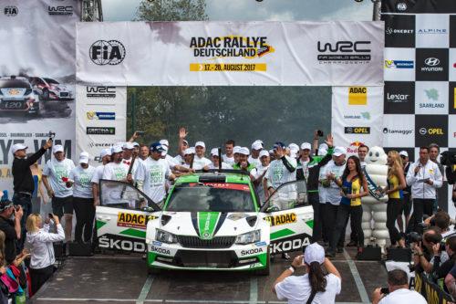 SKODA MOTORSPORT Sacre champion du Monde - Rallye dAllemagne 2017  2-jpg