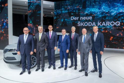 Comité directeur de SKODA AUTO à Francfort - septembre 2017