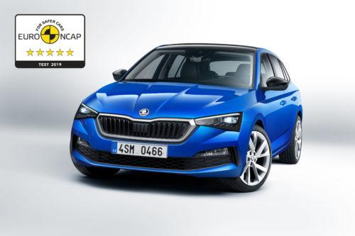 CPLa SKODA SCALA obtient le maximum de 5 etoiles au test Euro NCAP-jpg